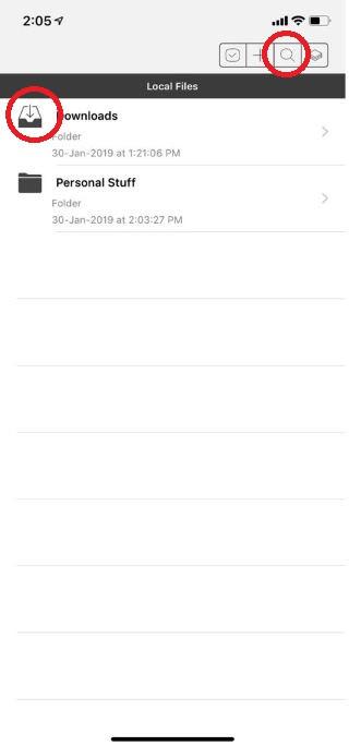 File Hub App (iPhone)